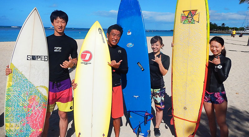 Hawaii Surfing Lesson(ハワイサーフィンレッスン)画像
